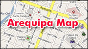 Arequipa Peru map